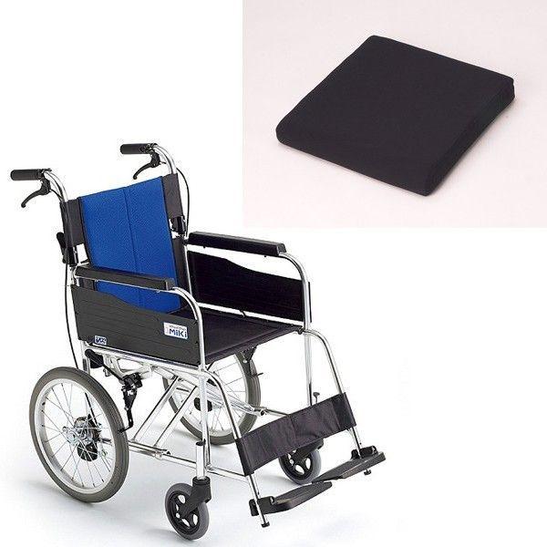 車椅子(車いす)ミキ製 バル2/BAL-2+車椅子専用クッション付き【メーカー正規保証付き/条件付き送料無料】