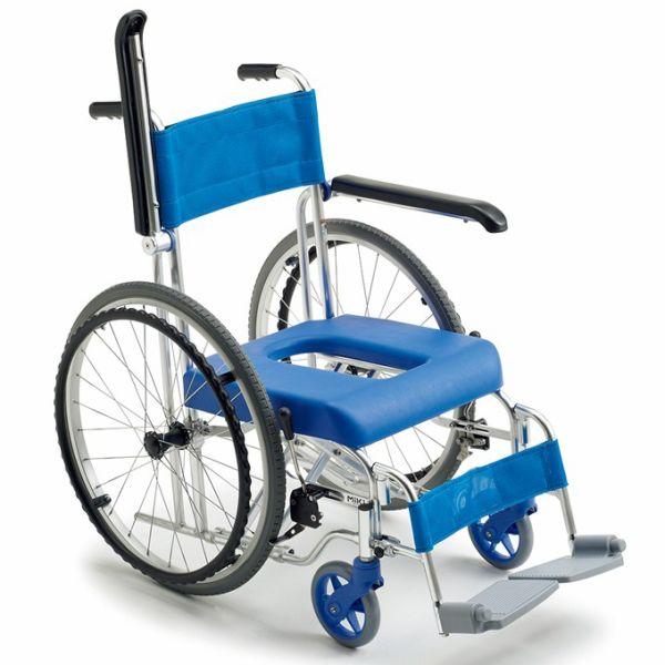 入浴用車椅子(車いす)ミキ製 シャワー専用自走車いす「フローラ」MH-43【メーカー正規保証付き/条件付き送料無料】