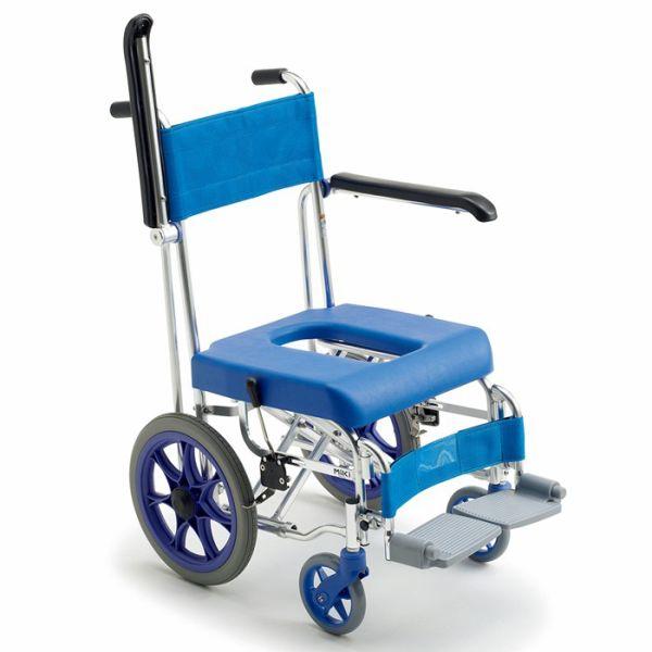 入浴用車椅子(車いす)ミキ製 シャワー専用自走車いす「フローラ」MHC-46【メーカー正規保証付き/条件付き送料無料】