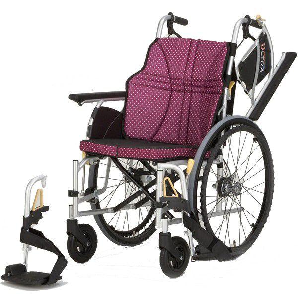 軽量 折りたたみ車椅子(車いす)日進医療器製 NA-U2W(ウルトラ)自走用【メーカー正規保証付き/条件付き送料無料】