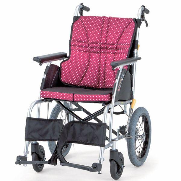 軽量 折りたたみ車椅子(車いす)日進医療器製 NAH-U1(ウルトラ)介助用45%OFF【メーカー正規保証付き/条件付き送料無料】