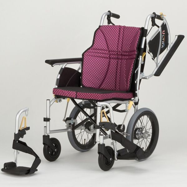 軽量 折りたたみ車椅子(車いす)日進医療器製 NAH-U2W(ウルトラ)介助用38%OFF 【メーカー正規保証付き/条件付き送料無料】