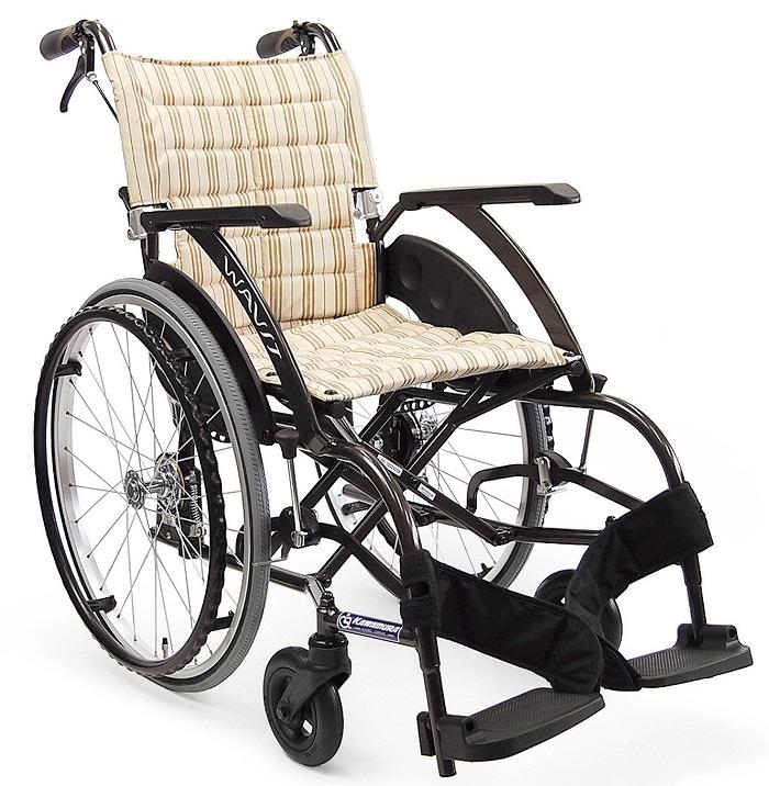 軽量 折りたたみ車椅子(車いす) カワムラサイクル製 WAVIT22! WA22-40S(42S)/WA22-40A(42A)【メーカー正規保証付き/条件付き】