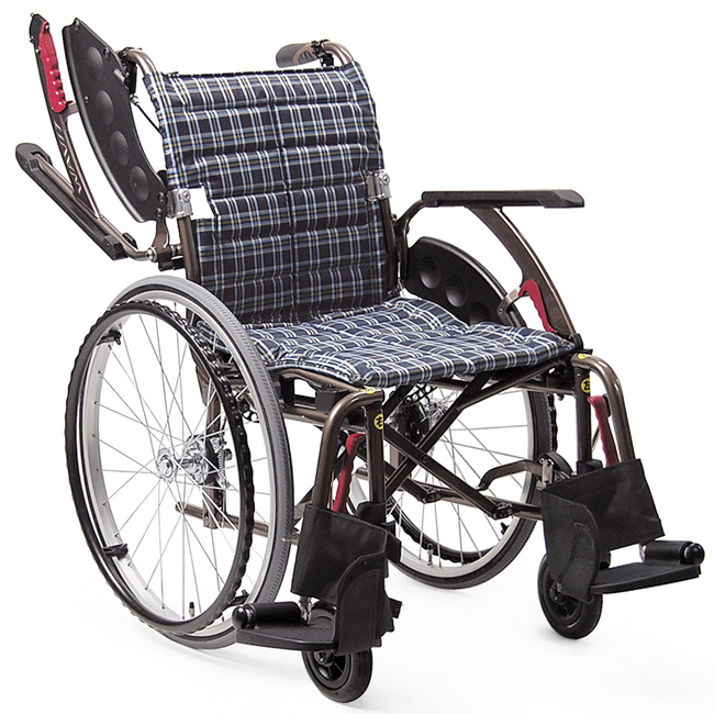 軽量 折りたたみ車椅子(車いす) カワムラサイクル製 WAVIT+(ウェイビットプラス自走式) WAP22-40S(42S) /WAP22-40A(42A)【メーカー正規保証付き/条件付き送料無料】