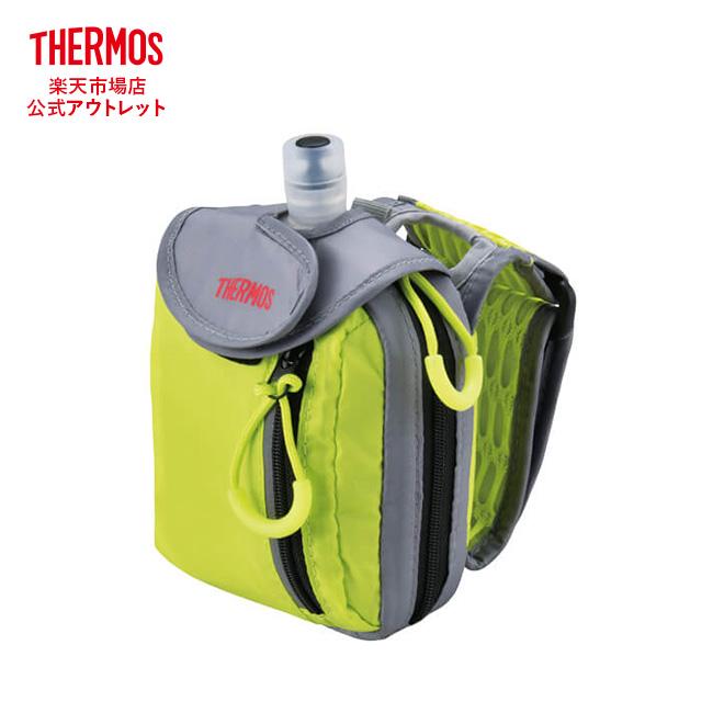 パウチ入りゼリー飲料を保冷できるウェアラブルな保冷バッグ サーモス ウェアラブルハイドレーションバッグ REM-001 LMY ライムイエロー