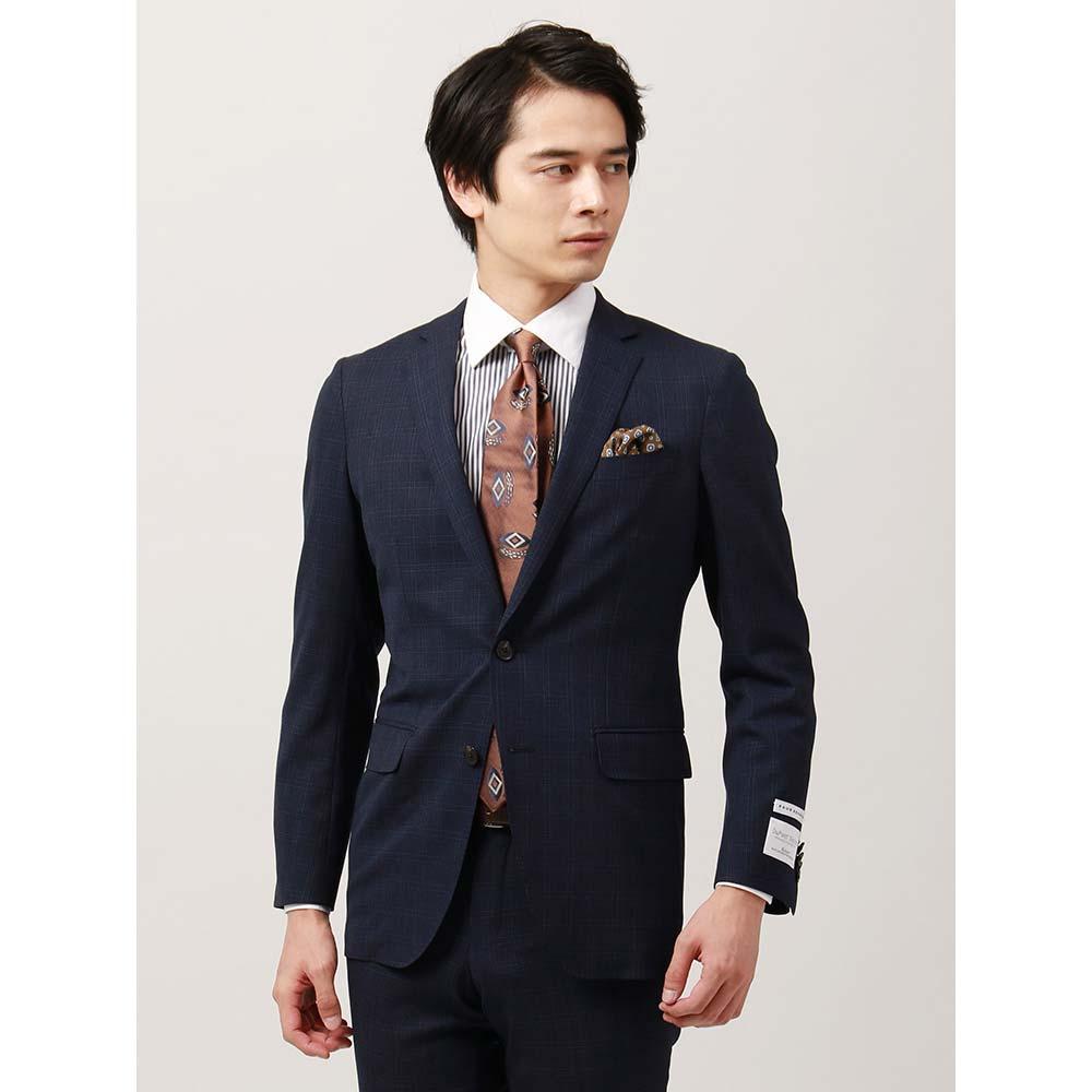 ビジネススーツ/メンズ/通年/FIT 2つボタンスーツ チェック NR-05 ネイビー×ブルー×ダークネイビー/ザ・スーツカンパニー