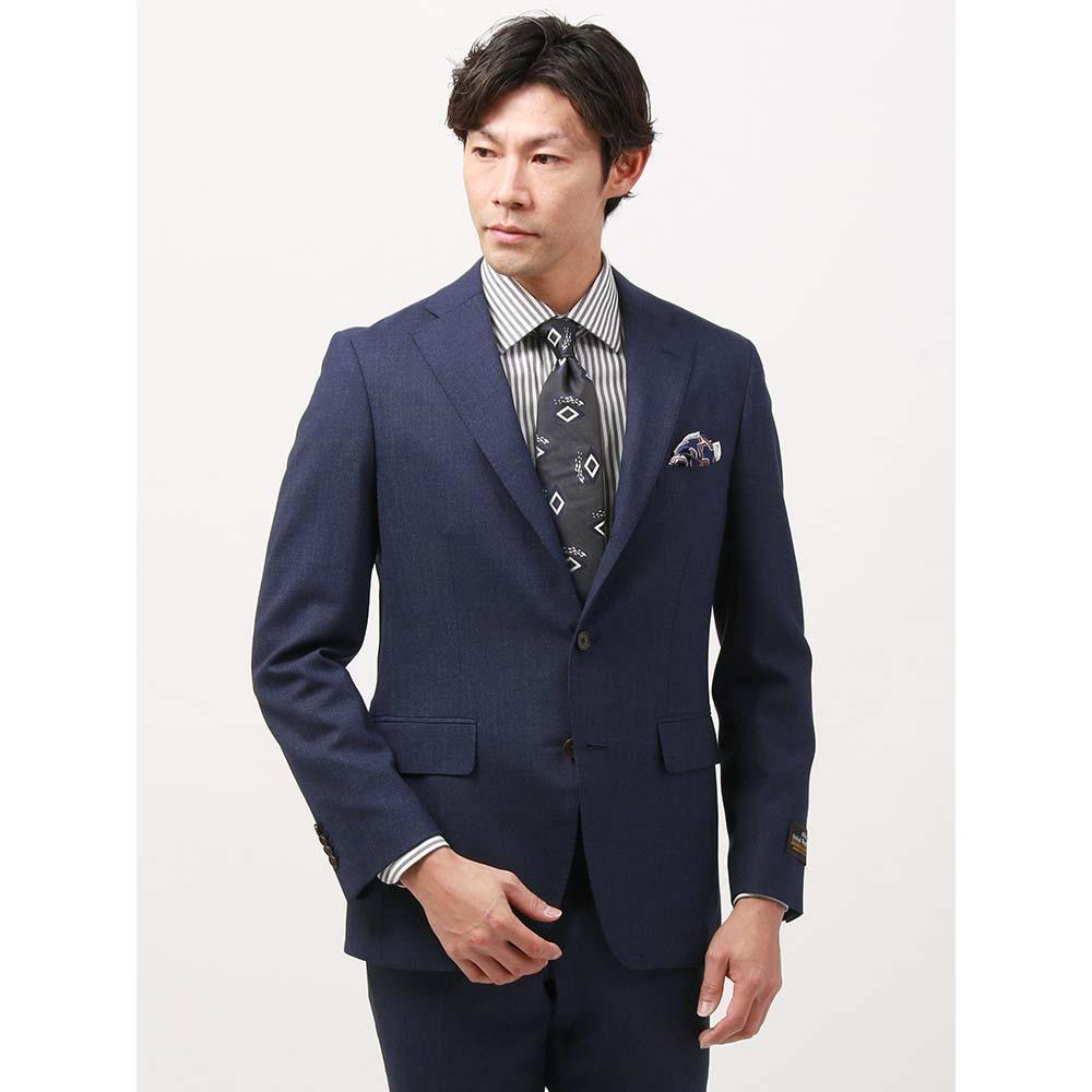 【特別価格】ビジネスジャケット/メンズ/春夏/blazer's bank.com/ライトブリティッシュウールジャケット ネイビー/ザ・スーツカンパニー