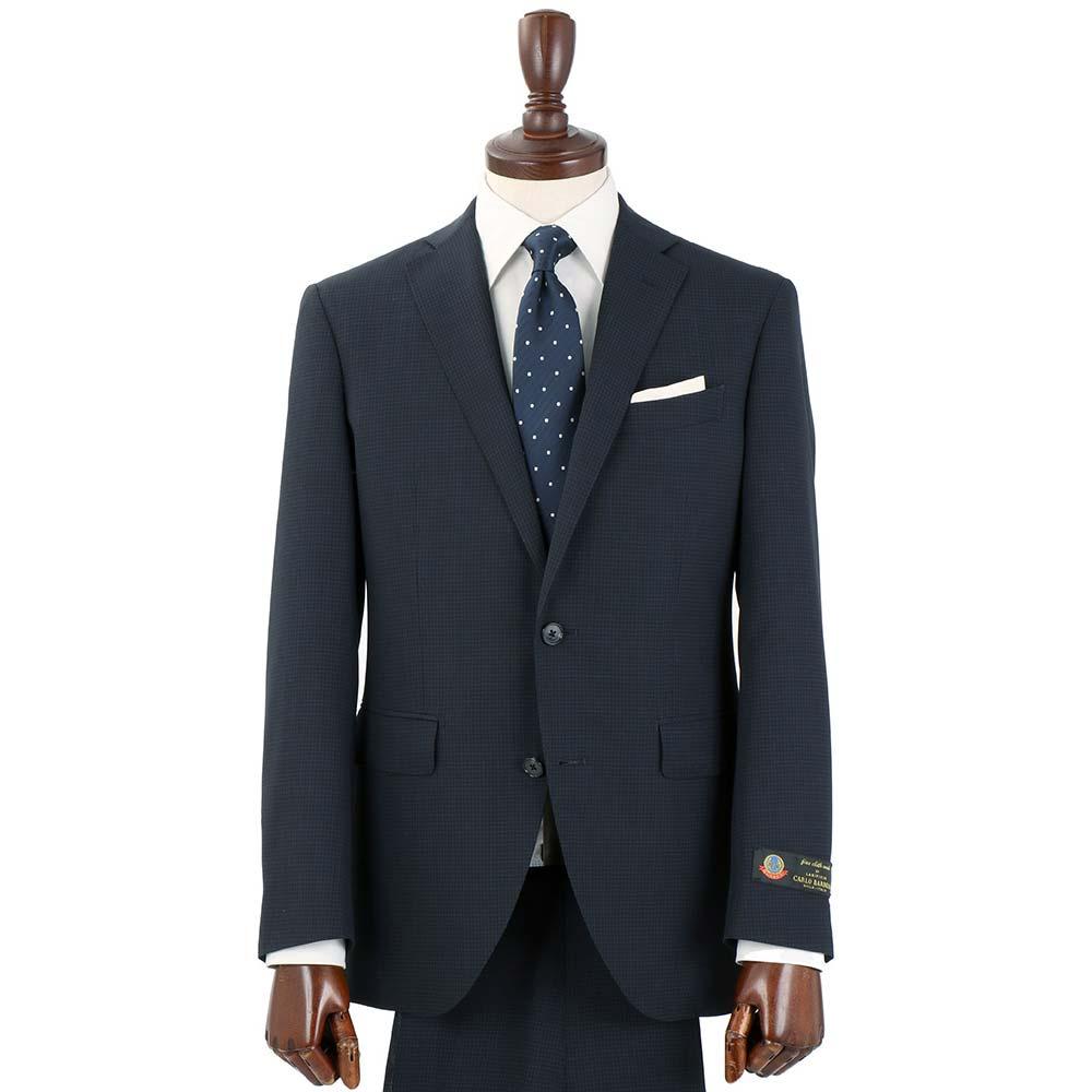 特別価格価格見直し商品 ビジネススーツ メンズ 春夏 FILO D'ORO 2つボタンスーツ ピンチェック CH 14 ダークネイビー×ブルー ザ・スーツカンパニーVpzMqSU