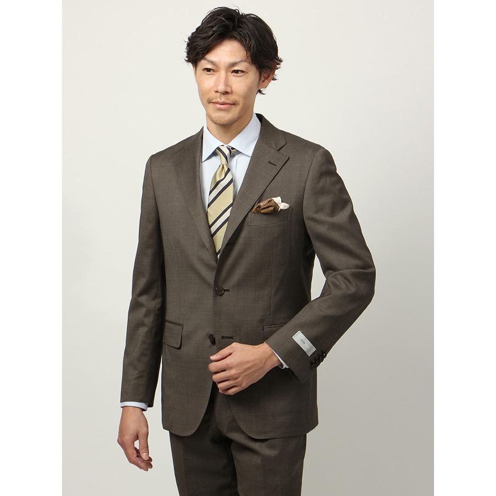 【特別価格】ビジネスジャケット/メンズ/春夏/blazer's bank.com/ピンヘッド柄ジャケット/Fabric by REDA/ ブラウン×ベージュ/ザ・スーツカンパニー