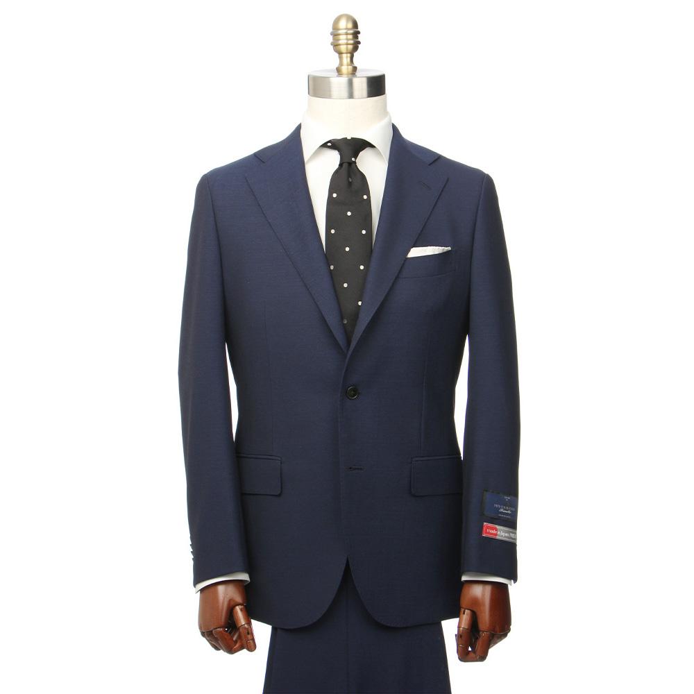 【特別価格】ビジネススーツ/メンズ/春夏/JAPAN MADE SUIT/3つボタンスーツ 無地 TR-16 ブルー/ユニバーサルランゲージ