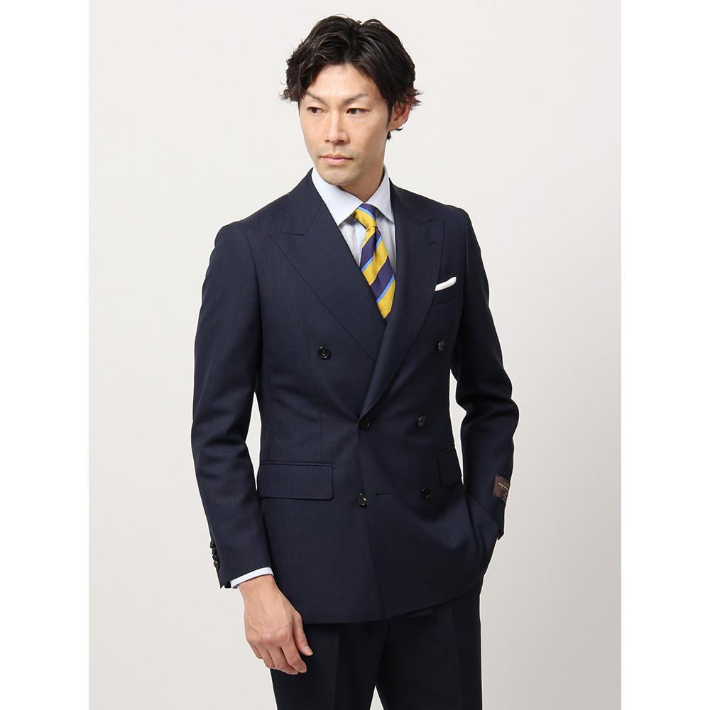 ビジネススーツ/メンズ/春夏/FIT ダブルブレストスーツ グレンチェック CH-19 ネイビー×ブラック/ザ・スーツカンパニー