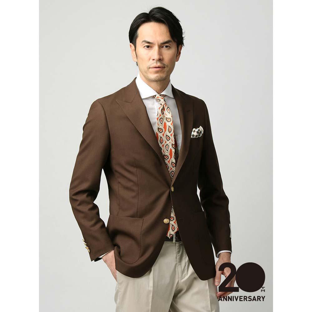 【特別価格】ビジネスジャケット/メンズ/春夏/ウールジャケット/Fabric by MARLING & EVANS/ ブラウン/ユニバーサルランゲージ