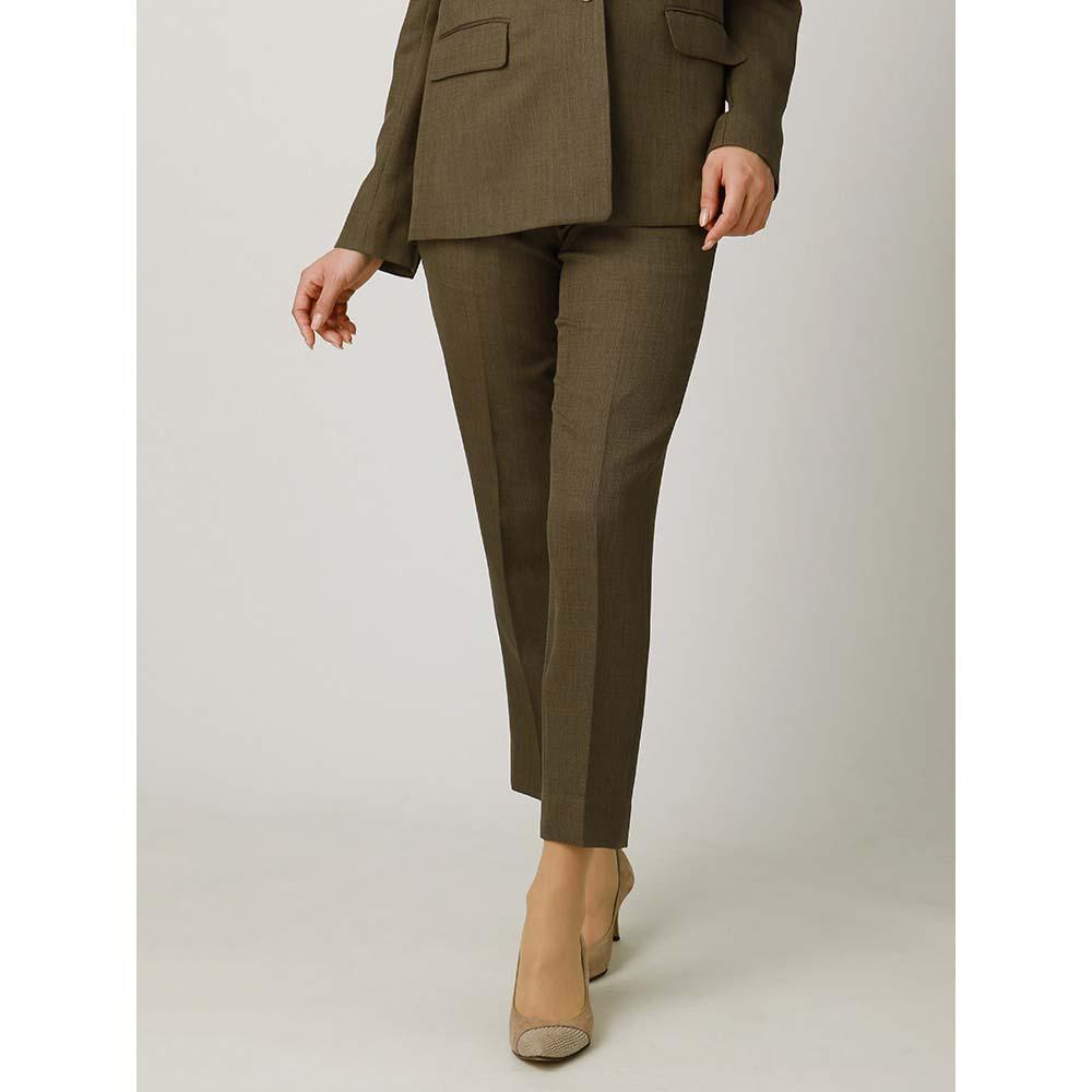 Fashion THE SALE特別価格 スーツ レディース セットアップ 春夏 ウォッシャブル ポリエステルブッチャー テーパードパンツ カーキ ユニバーサルランゲージFKl1JTc