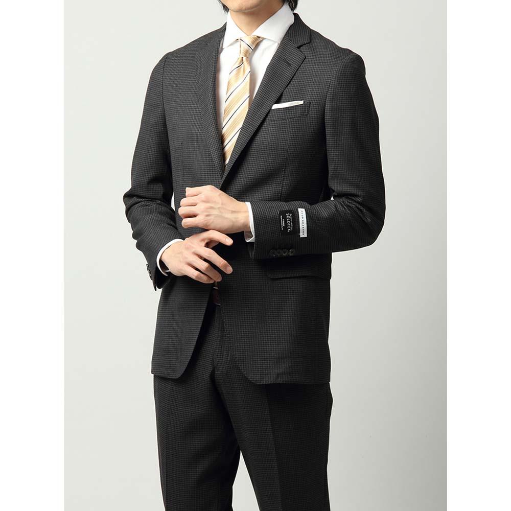 ビジネススーツ/メンズ/通年/FIT 2つボタンスーツ ハウンドトゥース NR-05 ミディアムグレー×ブラック/ザ・スーツカンパニー