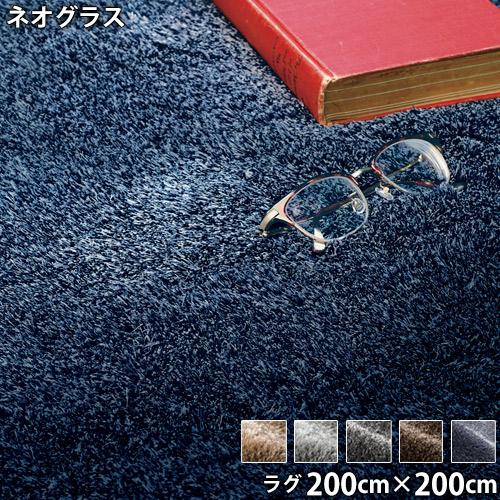 ネオグラス(200cm×200cm)防ダニ アレルブロック 防炎 滑り止め ホットカーペットOK 低ホルムアルデヒド