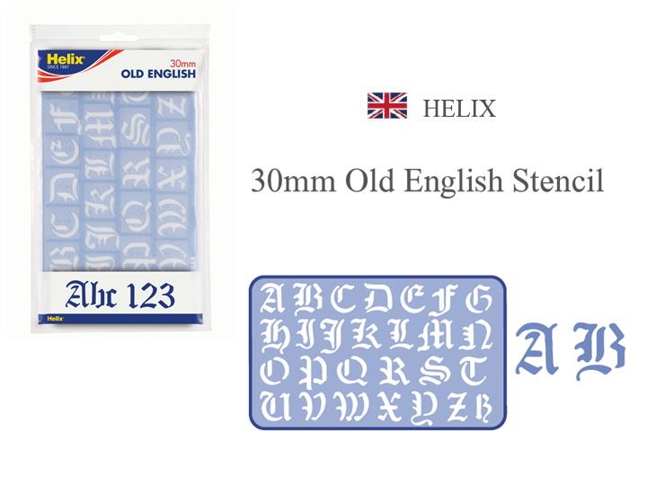 日本正規代理店 なつかしのステンシル HELIX 30mm Old English Stencil ヘリックス ステンシル ENGLISH 文房具 おしゃれ 選択 OLD 30mm ヨーロッパ イギリス カリグラフィ アウトレット 文具