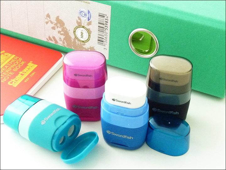 Snopake Twin Combo 2 Hole Pencil Sharpener /& Eraser in One
