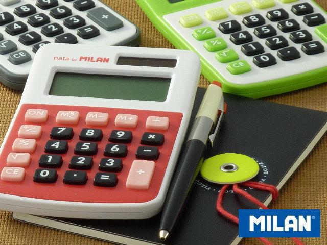 Milan | Calculator | Office Supplies | Office | Stationery | Stationery |  Stationery | Fashionable | Design | Retro | Sale | Europe | Calculator |  Red ...