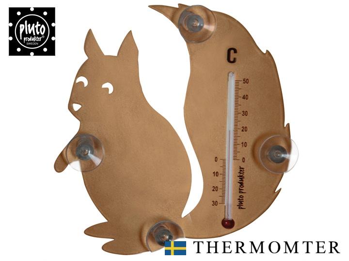 日本正規代理店 室内 室外どちらでも使える 温度計 ポイント10倍中 期間限定 pluto プルート アイテム勢ぞろい BR 北欧雑貨 インテリア リス‐SQUIRREL‐ 全国どこでも送料無料 おしゃれ りす かわいい 栗鼠