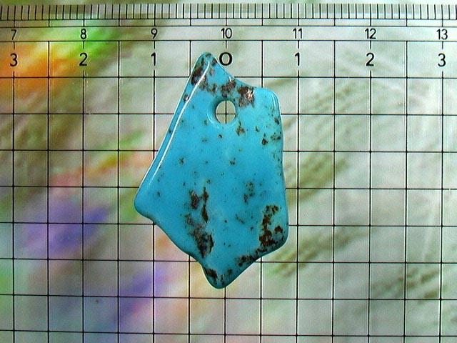 パイライトターコイズのペンダントトップアリゾナ産18.3carat No.4