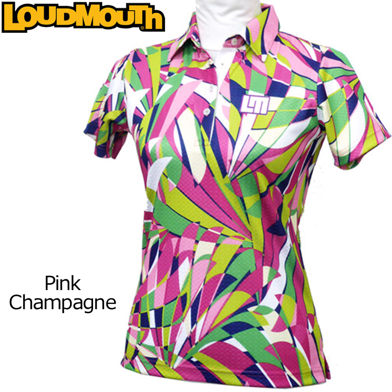 【メール便発送】レディース ラウドマウス チェッカージャガード ポロシャツ Pink Champagne ピンクシャンパン 726200(037) 春夏 【日本規格】【新品】 Loudmouth トップス16SS女性用レディスWOMENSWOMEN'Sウィメンズウィメンズ 派手 派手な 柄 目立つ 個性的 %off