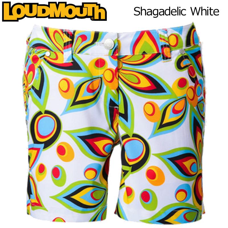 【メール便発送】レディース ラウドマウス ホットパンツ/ミニパンツ (Shagadelic White シャガデリック ホワイト) 726205(003) 春夏【日本規格】【新品】 Loudmouth 16SS 女性用 レディス WOMENS WOMEN'S ウィメンズ ウィメンズ ボトムス派手 派手な 柄 %off