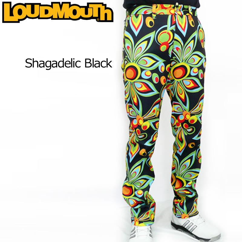 [50%off][日本規格]ラウドマウス メンズ ロングパンツ (Shagadelic Black シャガデリック ブラック) 726513(020)[新品] 16FW Loudmouth 男性用 ゴルフウェア 長ズボン ボトムス
