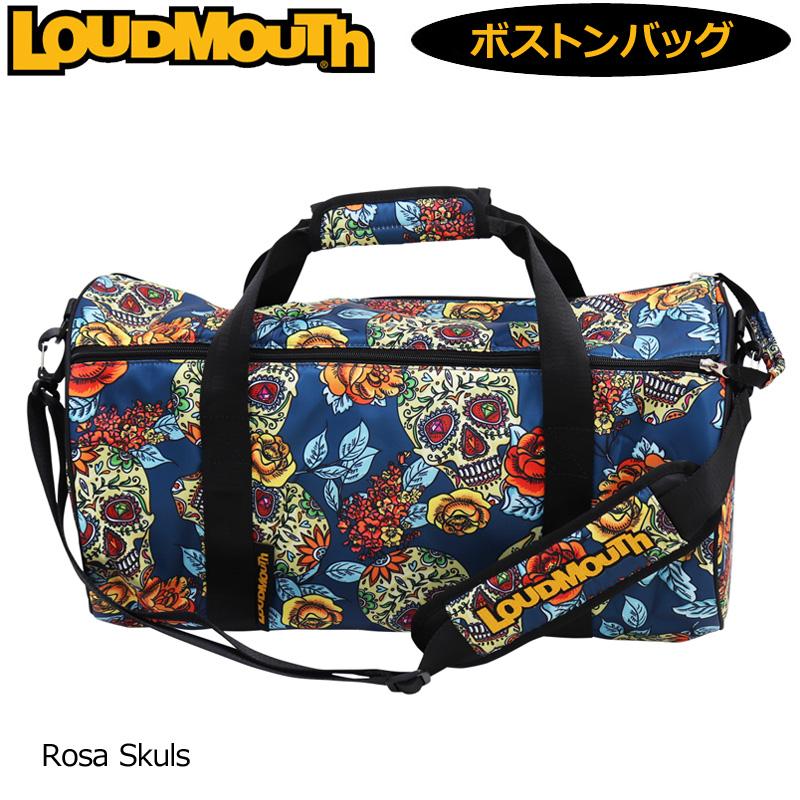 ラウドマウス ボストンバッグ Rosa-Skulls ローザ スカル LM-BB0003/779995(218) 【日本規格】【新品】19FW Loudmouth ゴルフ用品 メンズ レディース ドラムバッグ NOV1 NOV2