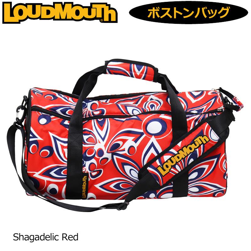 ラウドマウス ボストンバッグ Shagadelic Red シャガデリック レッド LM-BB0003/779995(248) 【日本規格】【新品】19FW Loudmouth ゴルフ用品 メンズ レディース ドラムバッグ NOV1 NOV2