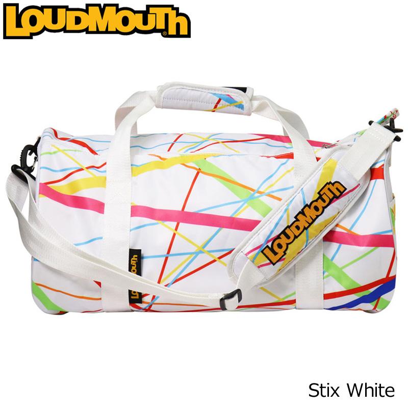 ラウドマウス ボストンバッグ (スティックスホワイト/Stix White) LM-BB0003/768991(117)【日本規格】【新品】 18SS Loudmouth ゴルフ用品 メンズ レディース ドラムバッグ 派手 派手な 柄 目立つ 個性的