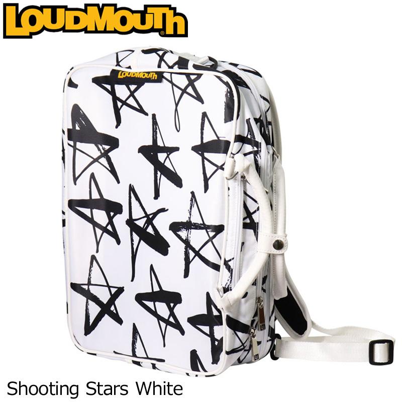 ラウドマウス 3WAY バックパック (Shooting Stars White/シューティングスターホワイト) LM-BP0001/768990(118)【日本規格】【新品】 18SS Loudmouth ゴルフ用品 メンズ レディース ボストンバッグ 派手 派手な 柄 目立つ 個性的 %off