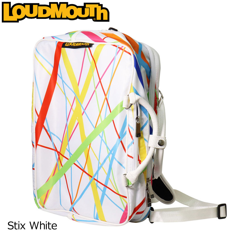 ラウドマウス 3WAY バックパック (スティックスホワイト/Stix White) LM-BP0001/768990(117)【日本規格】【新品】 18SS Loudmouth ゴルフ用品 メンズ レディース %off