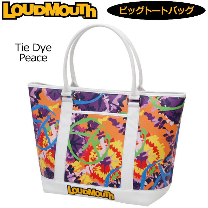 [日本規格]ラウドマウス ビッグ トートバッグ (Tie Dye Peace タイダイピース) LM-TB0001/777968(106)[新品]17FW Loudmouth ゴルフ用バッグ ボストンバッグ メンズ レディース