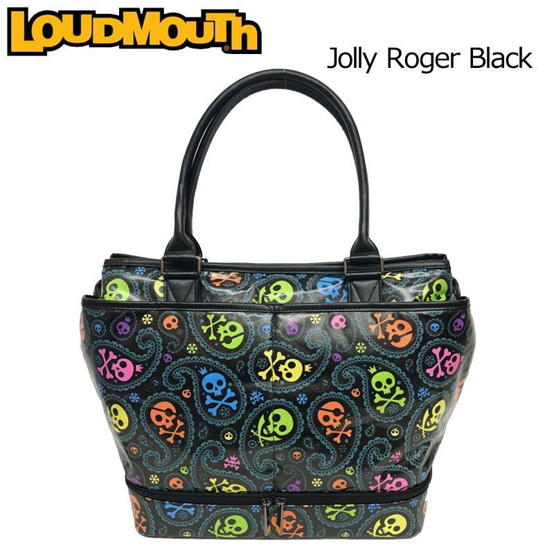 ラウドマウス ビッグ トートバッグ Jolly Roger Black ジョリーロジャー ブラック LM-TB0004/769993(201) 【Revival】【日本規格】【新品】 19SS Loudmouth ゴルフ用バッグ ボストンバッグ