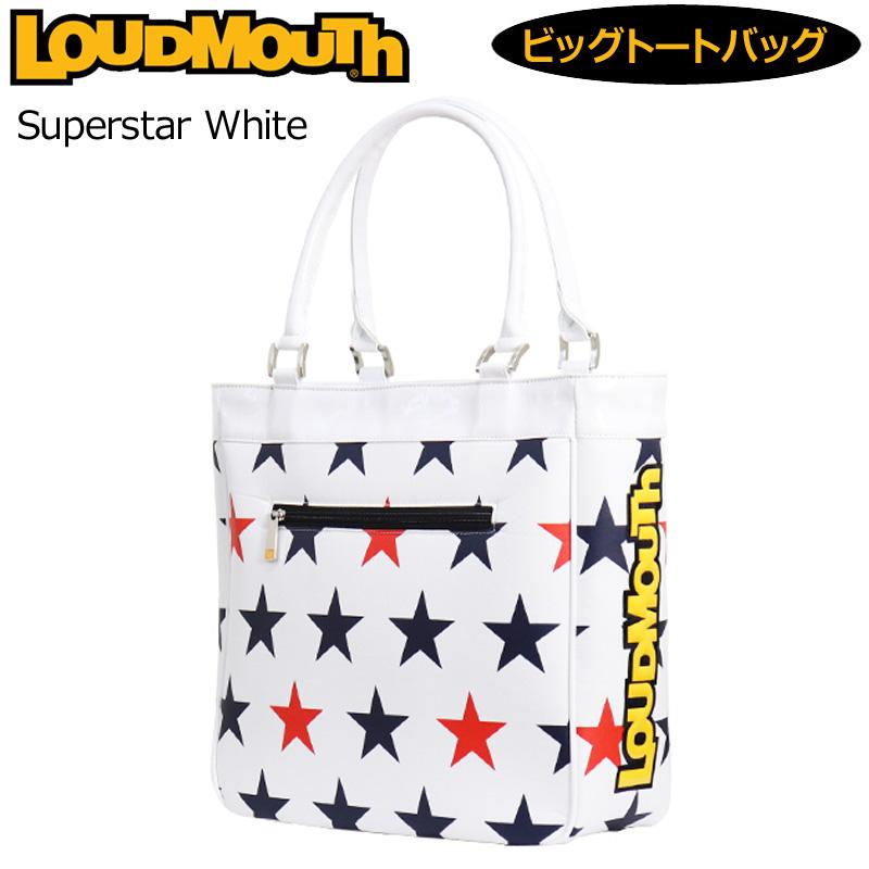 ラウドマウス 2020 ビッグ トートバッグ Superstar White スーパースターホワイト LM-TB0005/760998(254) 【日本規格】【新品】20SS Loudmouth ゴルフ用バッグ 派手 MAY2 MAY3