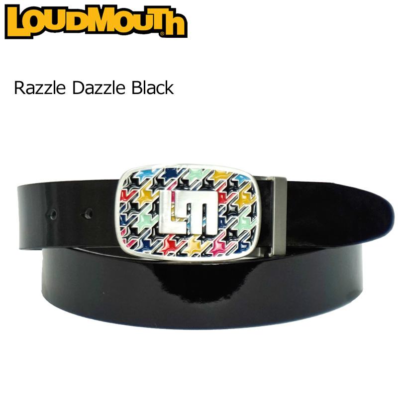 【日本規格】ラウドマウス 2020 メンズ レザーベルト Razzle Dazzle Black ラズルダズルブラック 760913(009) 【新品】20SS Loudmouth ゴルフウェア Belt APR2 APR3