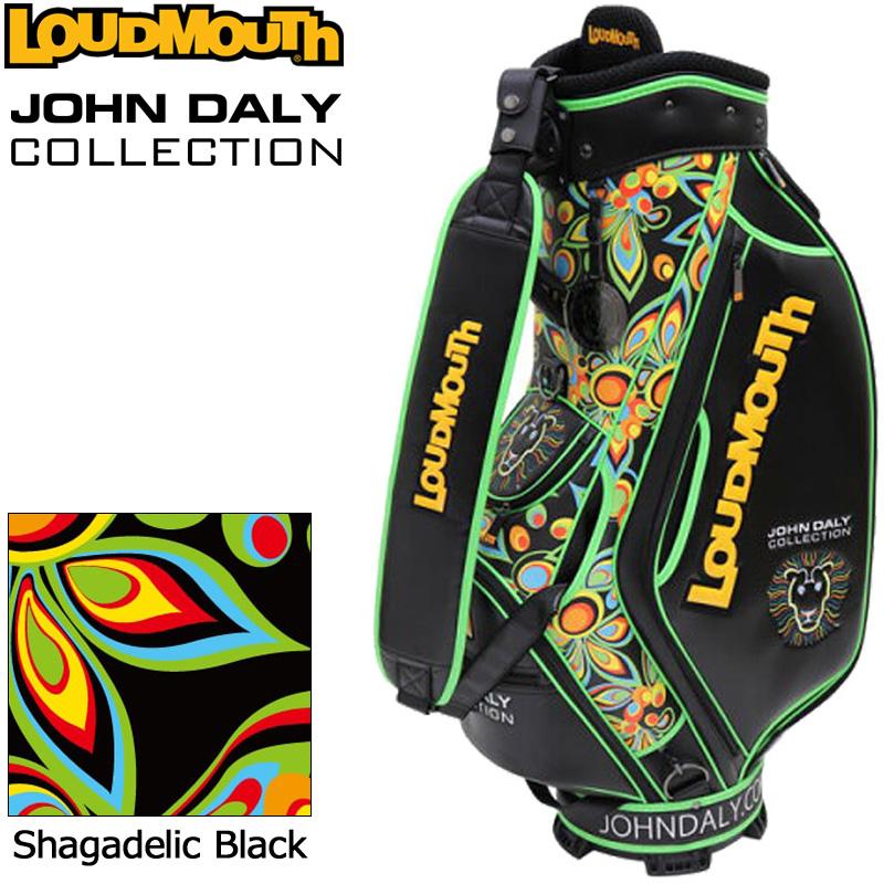 【生産数量限定】ラウドマウス 3点式 9型キャディバッグ ジョン・デーリーコレクション Shagadelic Black JD-CB0002 779999 【日本規格】【新品】19FW Loudmouth 派手な OCT1 OCT2