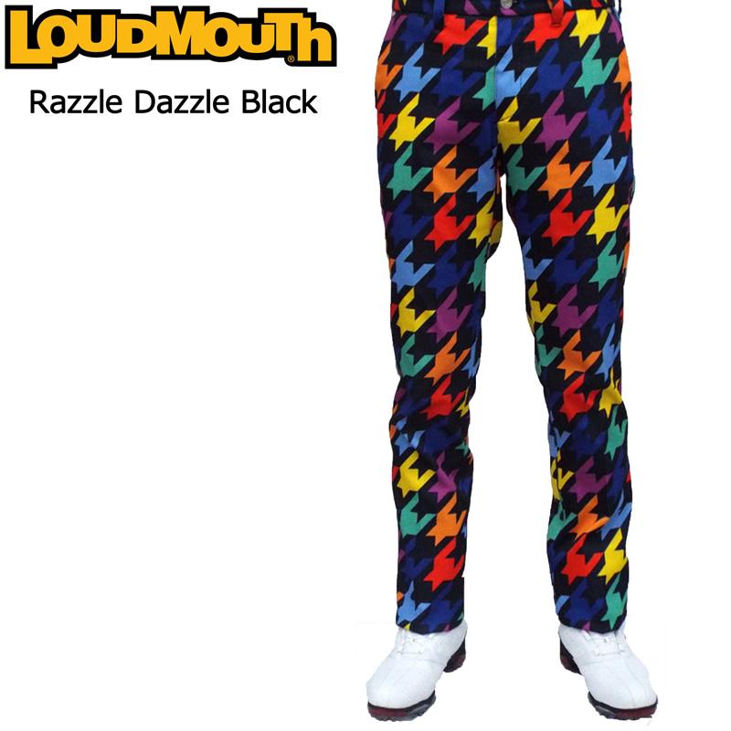ラウドマウス メンズ ロングパンツ (Razzle Dazzle Black ラズルダズル ブラック) 726513(009)【日本規格】【新品】 16FW Loudmouth 男性用 ゴルフウェア 長ズボン ボトムス派手 派手な 柄 目立つ 個性的 %off