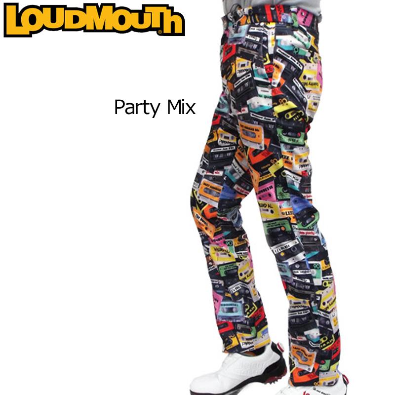 ラウドマウス メンズ ロングパンツ (Party Mix パーティーミックス) 726513(032)【日本規格】【40%off】【新品】 16FW 男性用 ゴルフウェア 長ズボン ボトムス派手 な 柄