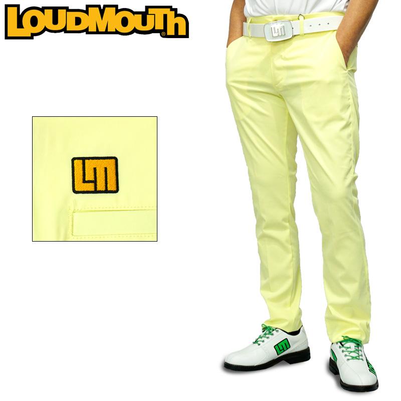 ラウドマウス 2020 メンズ ロングパンツ ストレッチ 撥水加工 ライトイエロー 760300(957) 【日本規格】【新品】20SS Loudmouth ゴルフウェア ゴルフパンツ ボトムス APR3 MAY1