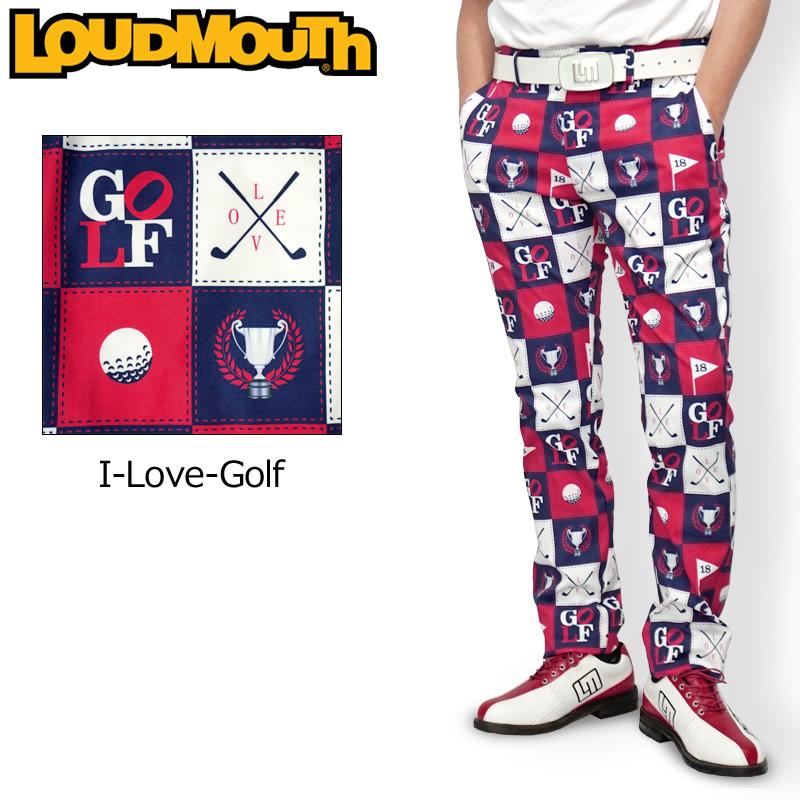 ラウドマウス 2020 メンズ ロングパンツ ストレッチ UVカット I Love Golf アイラブゴルフ 760303(251) 【日本規格】【新品】20SS Loudmouth ゴルフウェア ゴルフパンツ ボトムス 派手 派手な 柄 目立つ 個性的 FEB2 FEB3