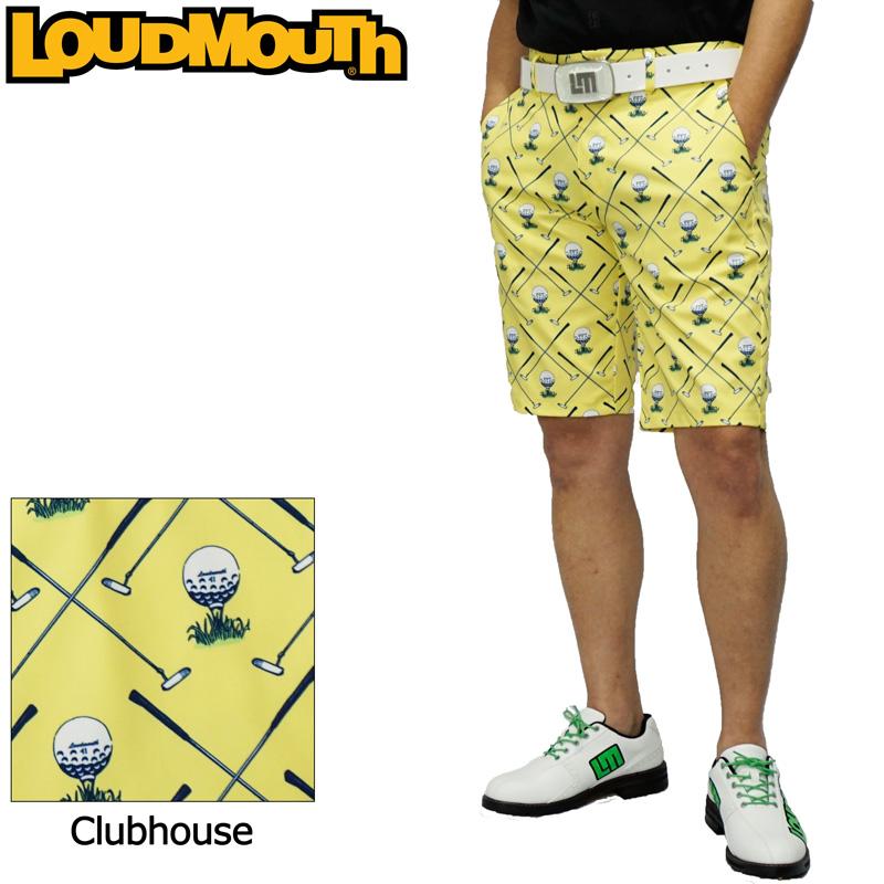 【メール便発送】【日本規格】ラウドマウス 2020 メンズ ショートパンツ ストレッチ UV CUT Clubhouse クラブハウス 760308(253) 【新品】20SS Loudmouth ゴルフウェア MAR2