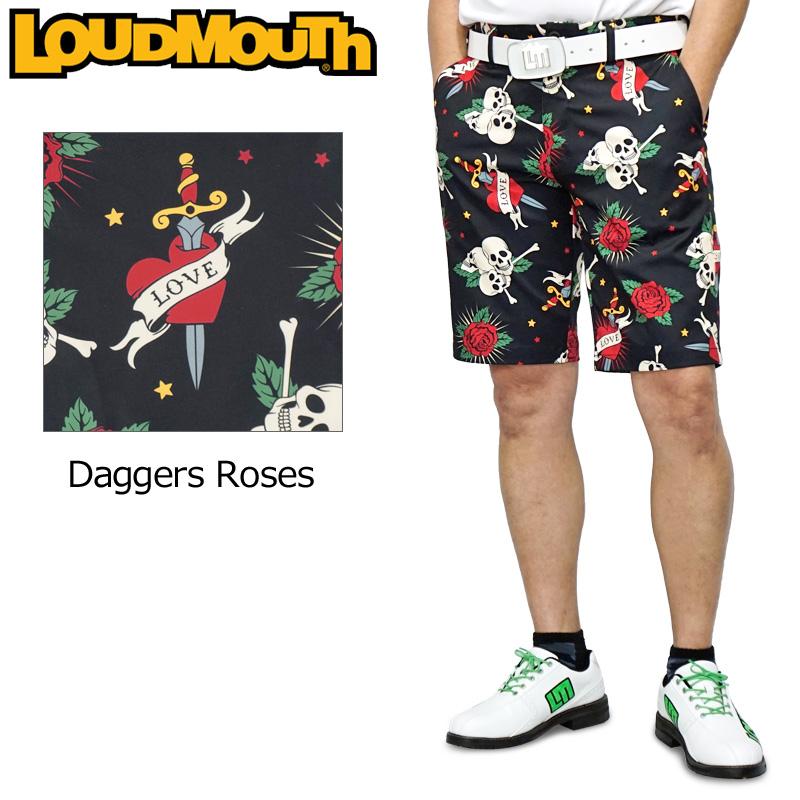 【メール便発送】ラウドマウス 2020 メンズ ショートパンツ ストレッチ UV CUT Daggers Roses ダガーローズ 760309(239) 【日本規格】【新品】20SS Loudmouth ゴルフウェア MAY1 MAY2