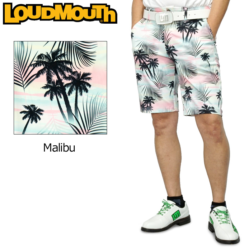 【メール便発送】ラウドマウス 2020 メンズ ショートパンツ ストレッチ UV CUT Malibu マリブ 760309(255) 【日本規格】【新品】20SS Loudmouth ゴルフウェア MAY1 MAY2