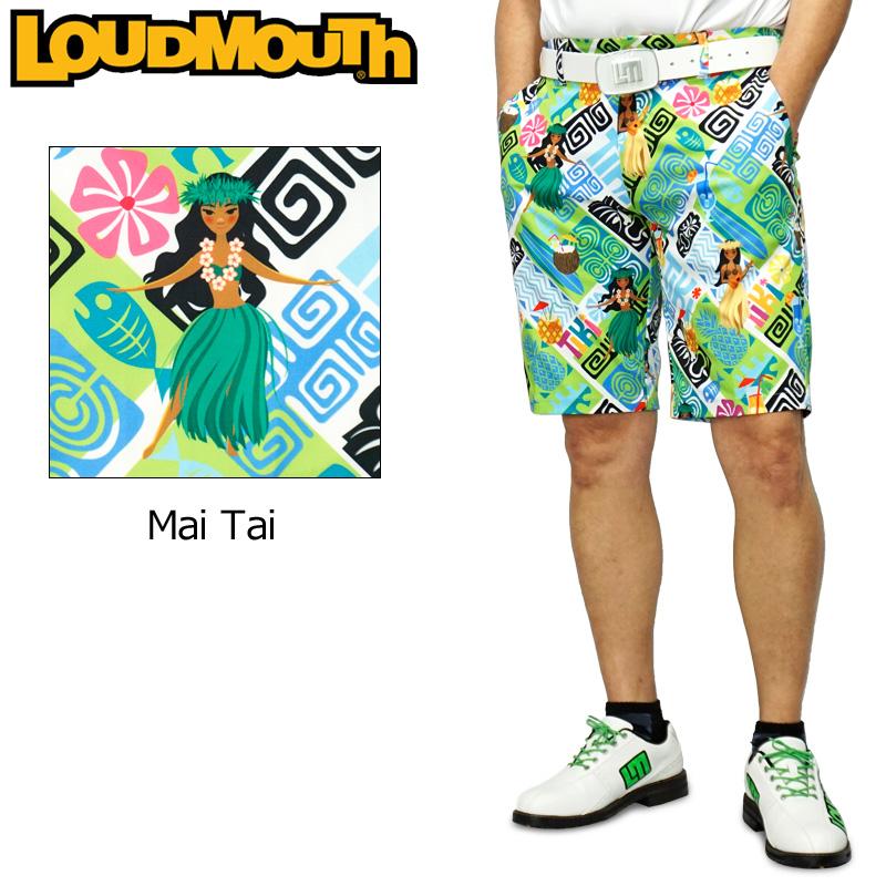 【メール便発送】ラウドマウス 2020 メンズ ショートパンツ ストレッチ UV CUT Mai Tai マイタイ 760309(258) 【日本規格】【新品】20SS Loudmouth ゴルフウェア MAY1 MAY2