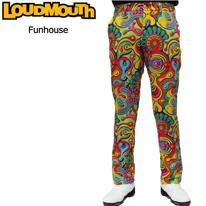 ラウドマウス メンズ ロングパンツ (Fun House ファンハウス) 767305(065) 春夏【日本規格】【新品】 17SS Loudmouth 男性用 ゴルフウェア ボトムス派手 派手な 柄 目立つ 個性的 %off