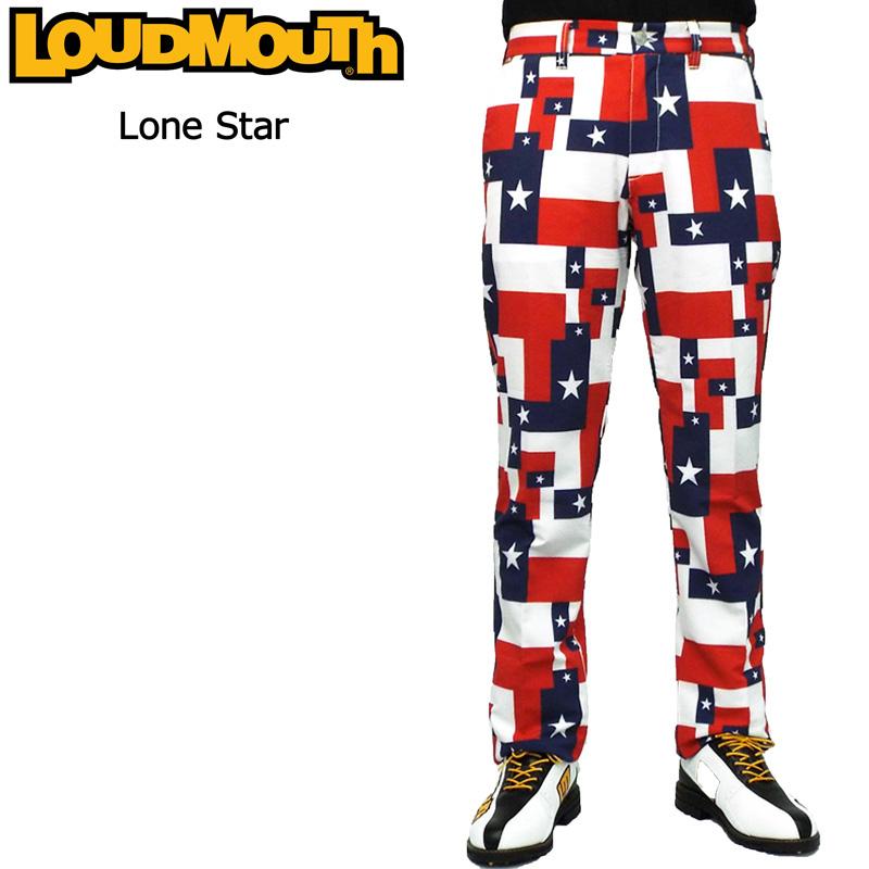 ラウドマウス メンズ ロングパンツ (ローンスター Lone Star) 768301(115) 春夏【新品】【30%off】【日本規格】18SS Loudmouth ゴルフウェア 男性用 ボトムス派手 派手な 柄 目立つ 個性的