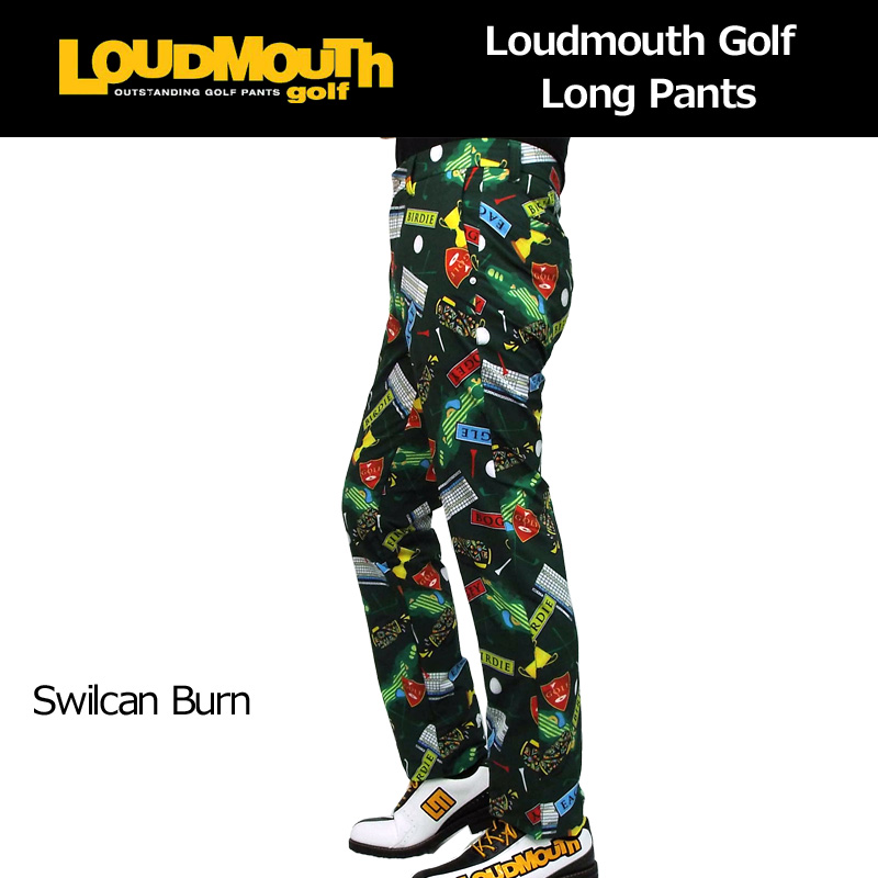 ラウドマウス メンズ ロングパンツ (スウィルカンバーン Swilcan Burn) 768301(123) 春夏【新品】【30%off】【日本規格】18SS Loudmouth ゴルフウェア 男性用 ボトムス派手 派手な 柄 目立つ 個性的