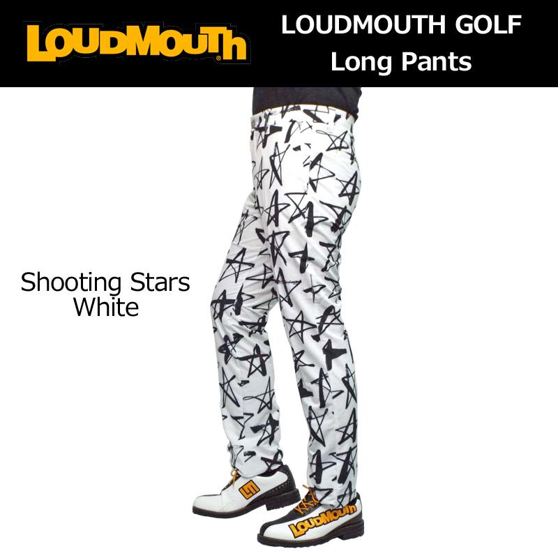 偉大な ラウドマウス メンズ ロングパンツ (シューティングスターホワイト Shooting Stars White) 768305(118) 春夏【新品】【30%off】【日本規格】18SS Loudmouth ゴルフウェア 男性用 ボトムス派手 派手な 柄 目立つ 個性的, handicraft メルシー e3e411d5