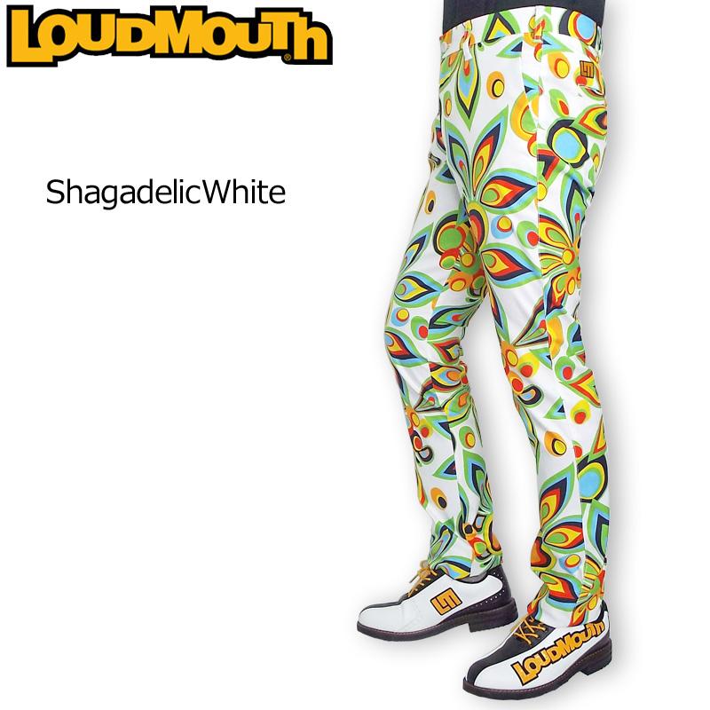 ラウドマウス メンズ ロングパンツ (Shagadelic White シャガデリック ホワイト) 769304(003) 【日本規格】【新品】19SS Loudmouth ゴルフウェア 男性用 ボトムス 派手 派手な 柄 目立つ 個性的 %off